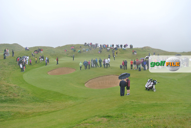 Spectators at the 13th green during the Final Round of the South of Ireland Amateur Open Championship at LaHinch Golf Club on Sunday 26th July 2015.<br /> Picture:  Golffile | Thos Caffrey