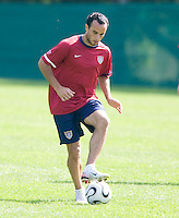 USA's Landon Donovan during practice in Hamburg, Germany, for the 2006 World Cup, June, 9, 2006.