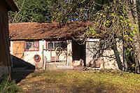 An outhouse at the farm. Ferme de Biorne duck and fowl farm Dordogne France