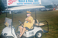 Shriners from the Za Ga Zig Shrine Center in Altoona, Iowa, provide golfcart rides from the parking area to the front gate at the Iowa State Fair in Des, Moines, Iowa, on Sun., Aug. 11, 2019.