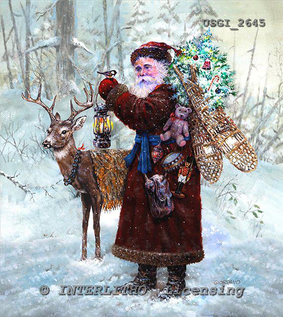 GIORDANO, CHRISTMAS SANTA, SNOWMAN, WEIHNACHTSMÄNNER, SCHNEEMÄNNER, PAPÁ NOEL, MUÑECOS DE NIEVE, nostalgic, paintings+++++,USGI2645,#X# nostalgic,vintage