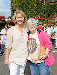 Aileen Emery and Catriona Bromley pictured at the car boot sale held at the Gary Kelly Centre. Photo: Colin Bell/pressphotos.ie