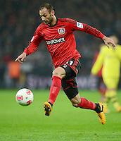 FUSSBALL   1. BUNDESLIGA   SAISON 2012/2013    20. SPIELTAG Bayer 04 Leverkusen - Borussia Dortmund                  03.02.2013 Oemer Toprak (Bayer 04 Leverkusen) Einzelaktion am Ball