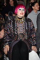Zandra Rhodes<br /> at the Jasper Conran AW17 show as part of London Fashion Week AW17 at Claridges, London.<br /> <br /> <br /> &copy;Ash Knotek  D3230  17/02/2017