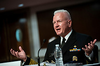 Admiral Brett Giroir, United States Assistant Secretary for Health, speaks during a US Senate Health, Education, Labor and Pensions Committee hearing in Washington, D.C., U.S., on Tuesday, June 30, 2020. Top federal health officials are expected to discuss efforts to get back to work and school during the coronavirus pandemic. <br /> Credit: Al Drago / Pool via CNP /MediaPunch