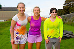 Pictured during the Colour Scramble in Cahersiveen on Saturday were l-r; Róisin Kissane, Grace King & Fiona O'Neill.
