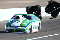 Mar 30, 2014; Las Vegas, NV, USA; NHRA pro stock driver Dave Connolly during the Summitracing.com Nationals at The Strip at Las Vegas Motor Speedway. Mandatory Credit: Mark J. Rebilas-
