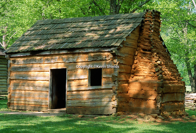 Abraham Lincoln's Boyhood home near Hodgenville, Kentucky, USA