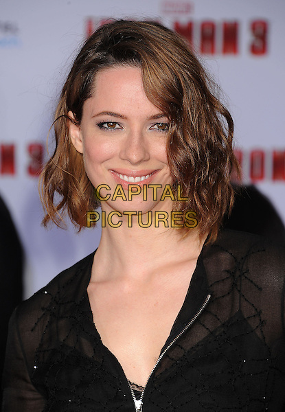 "Rebecca Hall.The Los Angeles Premiere of ""Iron Man 3"" at El Capitan Theatre in Hollywood, California, USA..April 24th, 2013.headshot portrait black sheer.CAP/ROT/TM.©Tony Michaels/Roth Stock/Capital Pictures"