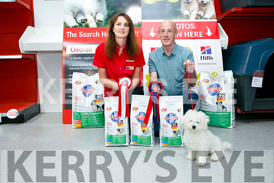 Tralee man Pat Curran and his dog Maximus came 3rd in the national Puppy of the Year competition here with Linda Cavanagh (Manager, Petmania Tralee)