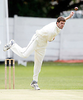 Joel Gregory bowls for Hornsey during the Middlesex County League Division two game between North Middlesex and Hornsey at Park Road, Crouch End on Sat July 9, 2011