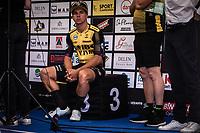 Dylan Groenewegen (NED/Jumbo Visma) awaiting the podium ceremony after finishing 3th place <br /> <br /> 104th Kampioenschap van Vlaanderen 2019<br /> One Day Race: Koolskamp > Koolskamp 186km (UCI 1.1)<br /> ©kramon