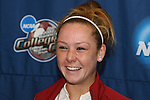 08 December 2007: Ashley Nick. The University of Southern California Trojans held a press conference at the Aggie Soccer Stadium in College Station, Texas one day before playing in the NCAA Division I Womens College Cup championship game.