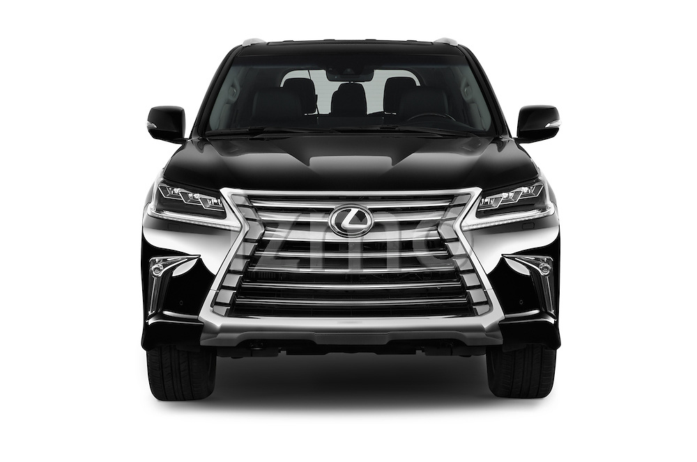 Car photography straight front view of a 2017 Lexus LX 570 5 Door SUV Front View