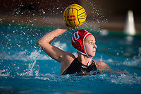 STANFORD, CA - February 4, 2018: Kat Klass at Avery Aquatic Center. The Stanford Cardinal defeated Long Beach State 14-2.