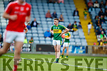 Barry Mahony Kerry in action against  Louth in the All Ireland Minor Football Quarter Finals at O'Moore Park, Portlaoise on Saturday.