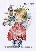 Interlitho, Theresa, CHRISTMAS CHILDREN, paintings, angel, gifts, KL5913,#xk# stickers stickers