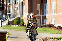 Student pedestrians on Drill Field<br />  (photo by Megan Bean / &copy; Mississippi State University)