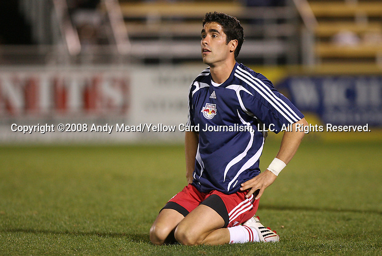 22 March 2008: New York's Juan Pablo Angel (COL). The expansion San Jose Earthquakes defeated the New York Red Bulls 3-0 in a preseason game at Blackbaud Stadium on Daniel Island in Charleston, SC, as part of the Carolina Challenge Cup.