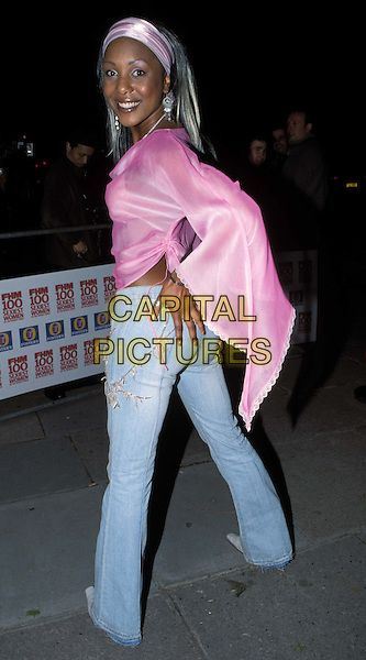 KELLY - LIBERTY X..FHM Sexiest Women Party ..Ref: 11725..rear, pink floaty top, headband..www.capitalpictures.com..sales@capitalpictures.com..©Capital Pictures..full length, full-length