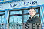 BUSINESS HARDSHIP: Jay Harrison of Feale IT in Abbeyfeale who had almost EUR9,000 worth of damage done to their IT store on Tuesday, December 30th through a malicious raid.