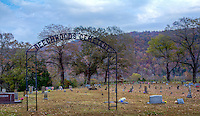 Beechwoods Church and Cemetery near Lost Valley Campground in Boxley Valley contains the oldest marked grave in the valley for William Keith (1842).