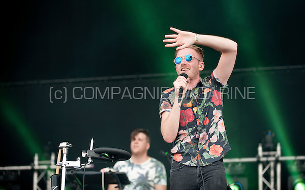 Concert of the Belgian pop band Willow at the Woosha festival, in Ostend (Belgium, 19/07/2014)