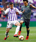 Real Sociedad's Mikel Oyarzabal and Real Valladolid's Ruben Alcaraz during La Liga match. March 31, 2019. (ALTERPHOTOS/Manu R.B.)