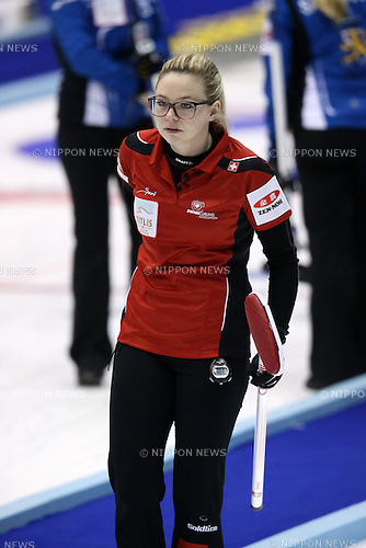 Paetz Alina (SUI),  <br /> MARCH 19, 2015 - Curling : World Women's Curling Championship 2015 Round Robin match between Switzerland and Scotland at Tsukisamu Gymnasium in Sapporo, Hokkaido, Japan. (Photo by Jun Tsukida/AFLO SPORT)