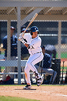 Detroit Tigers Keyder Aristigueta (9) during a Minor League Spring Training game against the Atlanta Braves on March 22, 2018 at the TigerTown Complex in Lakeland, Florida.  (Mike Janes/Four Seam Images)