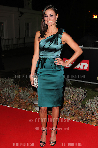 Melanie Sykes arriving for The Sun Military Awards, at The Imperial War Museum, London. 06/12/2012 Picture by: Alexandra Glen / Featureflash