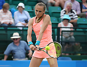 June 16th 2017, Nottingham, England; WTA Aegon Nottingham Open Tennis Tournament day 5;  Backhand from Magdalena Rybarikova of The Slovak Republic who defeated Kristie Ahn of USA in the quarter final