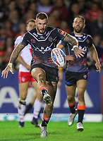 Picture by Alex Whitehead/SWpix.com - 28/09/2017 - Rugby League - Betfred Super League Semi Final - Castleford Tigers v St Helens - The Mend A Hose Jungle, Castleford, England - Castleford's Zak Hardaker in action.