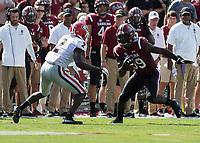 Columbia, South Carolina - September 8, 2018: Williams-Brice Stadium, University of South Carolina Gamecocks vs University of Georgia Bulldogs.