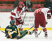 Allan McPherson (Clarkson - 9), Danny Biega (Harvard - 9), Luke Greiner (Harvard - 26) - The Harvard University Crimson defeated the visiting Clarkson University Golden Knights 3-2 on Harvard's senior night on Saturday, February 25, 2012, at Bright Hockey Center in Cambridge, Massachusetts.