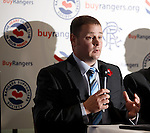 Andy Sheppard from the Rangers Supporters Trust outlining the aims of the Buy Rangers campaign