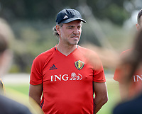 20180301 - LARNACA , CYPRUS :  Belgian assistant coach Kris Van Der Haegen pictured during a Matchday -1 training from The Belgian Red Flames prior to their game against Spain , on Thursday 1 March 2018 at the Alpha Sports Grounds in Larnaca , Cyprus . This will be the second game in group B for Belgium during the Cyprus Womens Cup , a prestigious women soccer tournament as a preparation on the World Cup 2019 qualification duels. PHOTO SPORTPIX.BE | DAVID CATRY