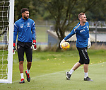 18.08.18 Rangers training: Wes Foderingham and Allan McGregor