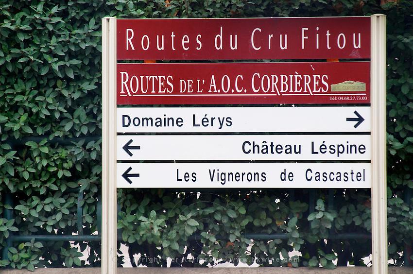 Wine roads of Corbieres and Fitou, Domaine Lerys, Chateau Lespine, Vignerons de Cascastel. Fitou. Les Corbieres. Languedoc. France. Europe.