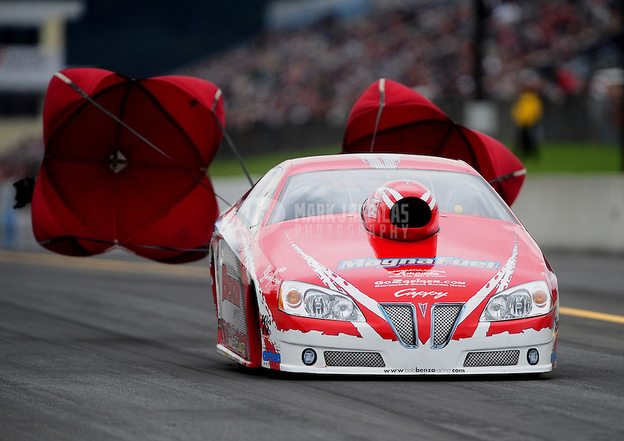 Oct. 1, 2011; Mohnton, PA, USA: NHRA pro stock driver Bob Benza during qualifying for the Auto Plus Nationals at Maple Grove Raceway. Mandatory Credit: Mark J. Rebilas-
