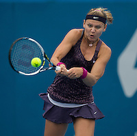 Lucie Safarova (CZE)<br /> <br /> Tennis - APIA International  - Sydney -  Olympic Park  -  Holmbush - Australia  - Tuesday 7th January 2014. <br /> <br /> &copy; AMN Images, 8 Cedar Court, Somerset Road, London, SW19 5HU<br /> Tel - +44 7843383012<br /> mfrey@advantagemedianet.com<br /> www.amnimages.photoshelter.com<br /> www.advantagemedianet.com<br /> www.tennishead.net