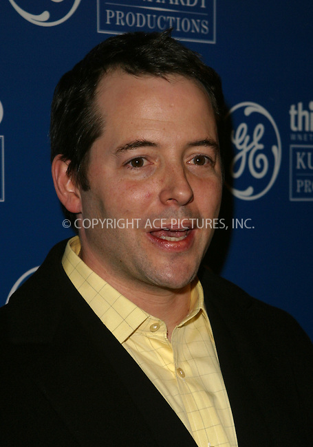 "Matthew Broderick at the screening for PBS Series ""Freedom: A History of US."" Presented by GE, the 8-part miniseries will be aired nationwide on starting Sunday, January 12. New York, January 9, 2003. Please byline: Alecsey Boldeskul/NY Photo Press.   ..*PAY-PER-USE*      ....NY Photo Press:  ..phone (646) 267-6913;   ..e-mail: info@nyphotopress.com"