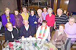 Party Time - Having a wonderful time at the Spa/Fenit ICA Senior Citizens Party held in The Ballyroe Heights Hotel on Sunday afternoon were seated l/r Eileen Cronin, Fr. Gearoid O'Donnchadha, Josephine Nolan and Mary Morriarty, standing l/r Maureen Donnellan, Mary O'Sullivan, Maraquita Blenner-Hassett, Phylis Brosnan, Phil Hussey, Sheila Walshe, Annie McCarthy, Bob Walsh and Emily McGillycuddy........................................................................................................................................................................................................................................................................................................................ ............