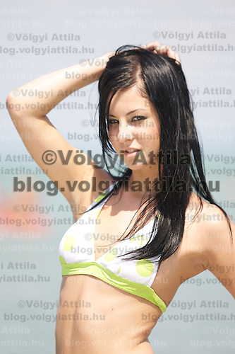 Miss Bikini beauty contest held near lake Balaton. Siofok, Hungary. Sunday, 27. July 2008. ATTILA VOLGYI