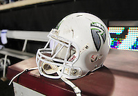 Oct. 8, 2009; Las Vegas, NV, USA; Detailed view of a California Redwoods helmet during the game against the Las Vegas Locomotives in the inaugural United Football League game at Sam Boyd Stadium. Las Vegas defeated California 30-17. Mandatory Credit: Mark J. Rebilas-