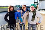 Marie Arthurs, Eamon Joseph and Susan O'Neil and Joe Arthurs at the James Ashe Memorial Tractor Run in Boolteens on Sunday.