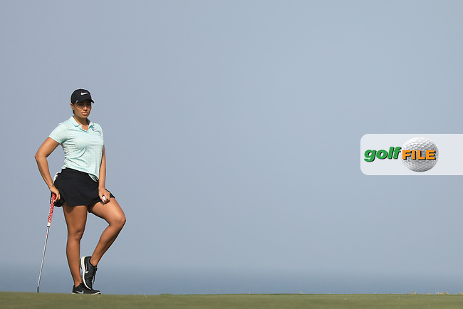 Cheyenne Woods (USA) during the first round of the Fatima Bint Mubarak Ladies Open played at Saadiyat Beach Golf Club, Abu Dhabi, UAE. 10/01/2019<br /> Picture: Golffile | Phil Inglis<br /> <br /> All photo usage must carry mandatory copyright credit (© Golffile | Phil Inglis)