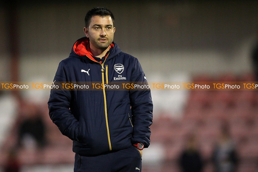 Arsenal Ladies manager Pedro Martinez Losa during Arsenal Ladies vs Manchester City Women at Meadow Park