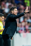 Coach Diego Simeone of Atletico de Madrid reacts during the La Liga 2017-18 match between Atletico de Madrid and Malaga CF at Wanda Metropolitano on 16 September 2017 in Madrid, Spain. Photo by Diego Gonzalez / Power Sport Images