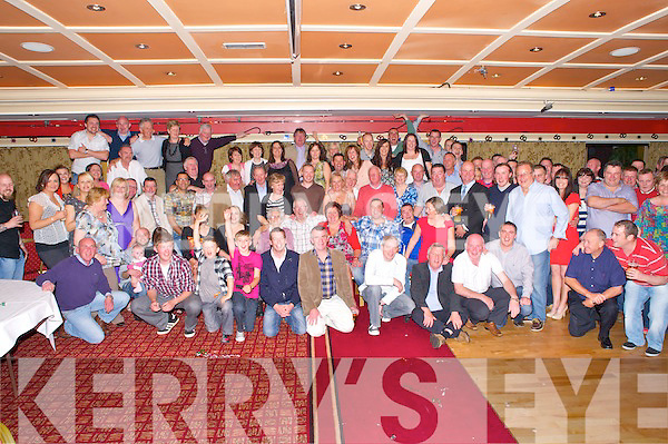 Max McCarthy, O'Kellys Villas, Killarney, pictured with family and friends as he celebrated his 60th birthday in the Killarney Avenue Hotel on Friday night.